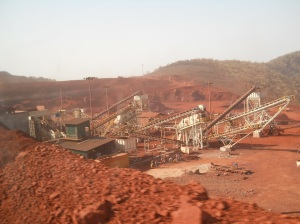 Posco mining in Sundargarh district, Orissa