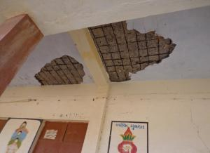 Dilapidated building of a village school in Kutch district