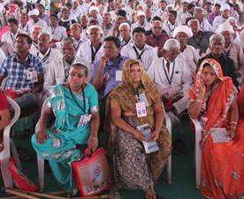 Glimpse of last panchayat meet in Gandhinagar