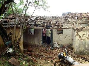 A Dalit was burnt alive in this house of Ankloli village, forcing Dalit families to migrate
