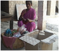 A scavenging community woman engaged in self employment in Gazipur, UP
