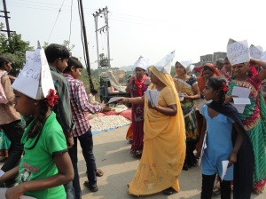 Tribals protest against the tourism project next to the Narmada river