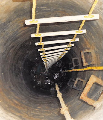 The manhole in which manual scavengers died recently due to poisonous gas in Unza, North Gujarat