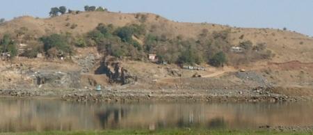 Garudeshwar Dam work under progress
