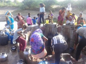 The village well, which is used by high caste persons for drinking water due to erratic supply of Narmada pipeline water