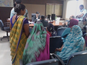 Dharisana Dalits in the chief minister's office to hand over the representation