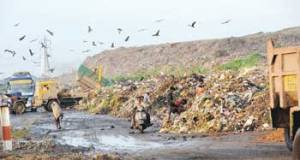 Pirana landfill site in Ahmedabad