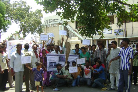 Protest rally against manual scavenging on August 14