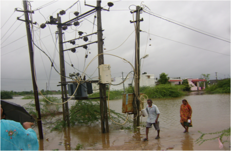 Danger of electrocution along bypass near Vadhvan