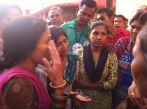 Family members tell their woes to the activists