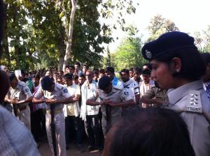 Body of the victim buried with police giving guard of honour