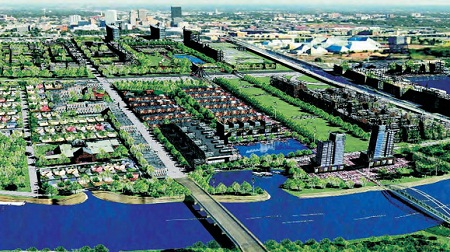 A schematic drawing of Mithi riverfront, prepared by Observer Research Foundation