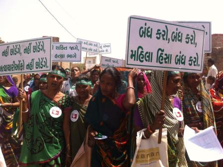 Navsarjan Trust-Gujarat Women Rights Council sampaign om Savda village in Patdi block of Surendranagar district