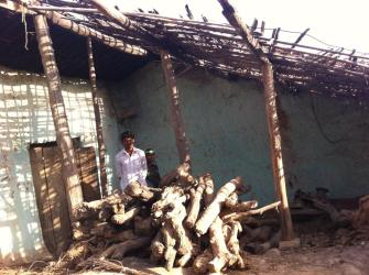Houses in Chharad village, Lakhtar taluka, fell down during monsoon, but people have received no financial support