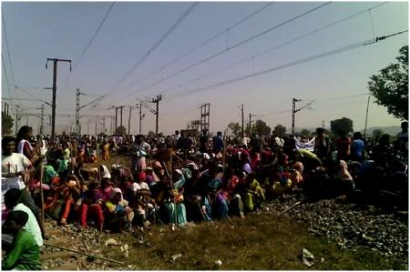 The economic blockade  agitation by the tribals continued despite threats