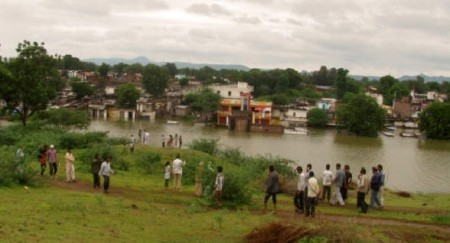Nisarpur, a big village, went under under water during an earlier flooding of Narmada