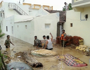Rescue operations during Banaskantha floods