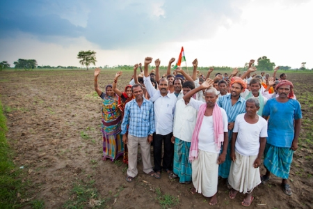 Dalit villagers celebrate their success