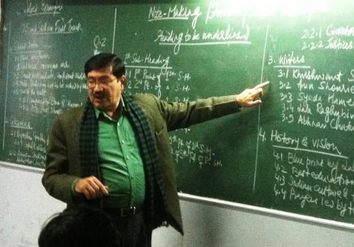 Firoz teaching