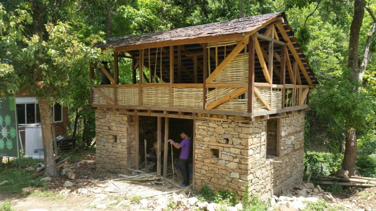 An earthquacke resistant house in Nepal