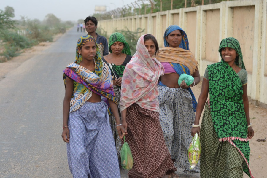 8. Women Workers walk a median distance of 10 Kms in a day.