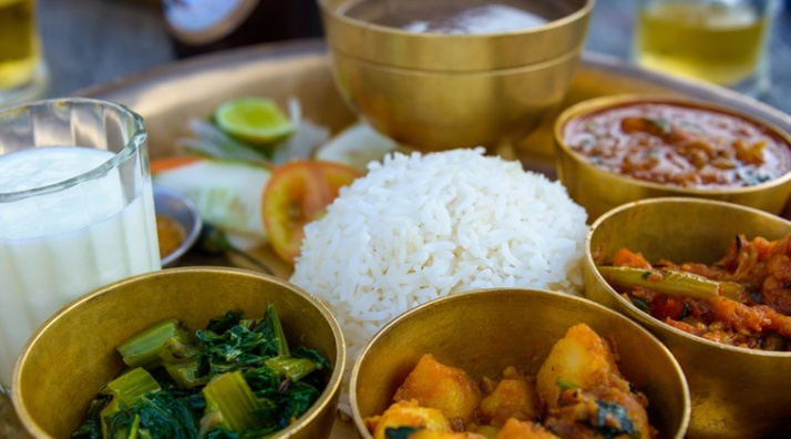 Traditional Nepalese thali