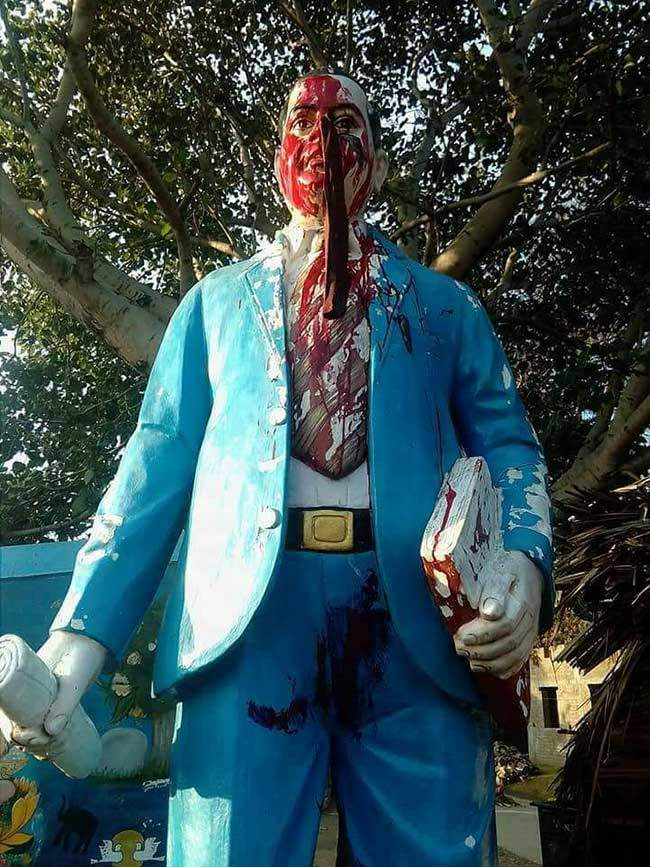 statue defaced